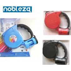 Αυτόματα αναδιπλούμενο λουρί σκύλου με σακούλες 5m nobleza 0010