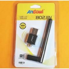 Ασύρματος προσαρμογέας WiFi USB 2.0 900Mbps 802.IIN ANDOWL