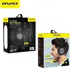 Αναδιπλούμενα ασύρματα στερεοφωνικά ακουστικά Bluetooth Hi-Fi AWEI A600BL
