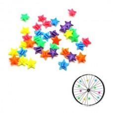 Διακοσμητικά αστεράκια ρόδας ποδηλάτου 36 τεμάχια LUTA