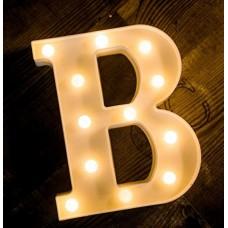 Γράμμα LED μπαταρίας  B 22cm