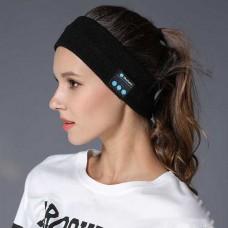 Bluetooth, επαναφορτιζόμενη πλεκτή κορδέλα κεφαλής για σπορ μαύρη MIDY