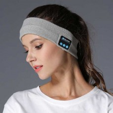 Bluetooth, επαναφορτιζόμενη πλεκτή κορδέλα κεφαλής για σπορ γκρι MIDY