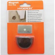 Αυτοκόλλητο μαγνητικό στοπ πόρτας μαύρο HS-25500 HYDERON