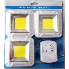 LED φώτα οροφής με τηλεχειριστήριο 3 τεμάχια