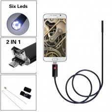 USB android ενδοσκοπική αδιάβροχη κάμερα μικροσκόπιο με φωτισμό 6x LED για κινητά τηλέφωνα, tablet & PC, OTG ΑΝ99 10m