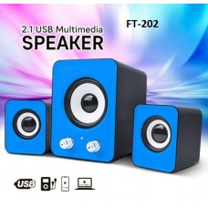 Μίνι ηχεία μπλε 2.1A USB FT-202