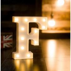 Γράμμα LED μπαταρίας  F 22cm