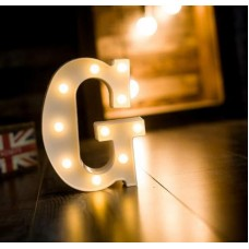 Γράμμα LED μπαταρίας  G 22cm