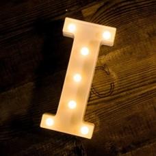 Γράμμα LED μπαταρίας  I 22cm