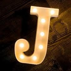 Γράμμα LED μπαταρίας  J 22cm