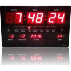 Μεγάλο ρολόι τοίχου LED με ένδειξη ημερομηνίας και θερμοκρασίας