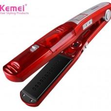 Ισιωτική πρέσα μαλλιών με ατμό KEMEI KM-3011