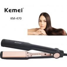 Επαγγελματική ισιωτική μαλλιών KM-470 Kemei