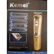 Επαγγελματική επαναφορτιζόμενη κουρευτική και ξυριστική μηχανή KM-9051 Kemei