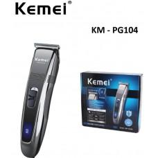 Επαναφορτιζόμενη ηλεκτρική κουρευτική μηχανή μαλλιών KM-PG104 KEMEI