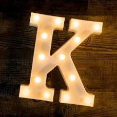 Γράμμα LED μπαταρίας  K 22cm