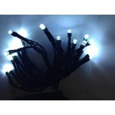 20 μονόχρωμα Χριστουγεννιάτικα LED λαμπάκια μπαταρίας