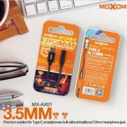 Καλώδιο μετατροπέας  Type-C σε 3,5mm MX-AX01 MOXOM