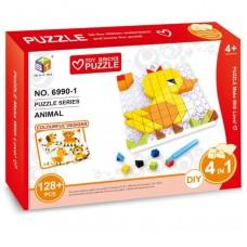 3D παζλ ζωάκια με ψηφίδες 128+ τεμάχια NO. 6990-1