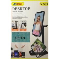 Αναδιπλούμενη επιτραπέζια βάση τηλεφώνου και τάμπλετ πράσινη  Q-C40 ANDOWL