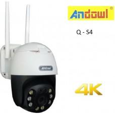 Έξυπνη αδιάβροχη εξωτερική κάμερα καταγραφής WiFi Q –S4 ANDOWL
