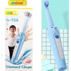 Επαναφορτιζόμενη παιδική ηλεκτρική οδοντόβουρτσα USB μπλε αρκουδάκι Q-YS9 ANDOWL