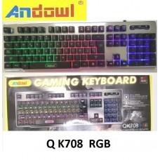 Ενσύρματο πληκτρολόγιο παιχνιδιών με οπίσθιο φωτισμό RGB QK708 ANDOWL