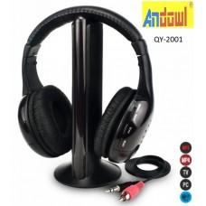 Ακουστικά  κεφαλής 5σε1  QY-2001 ANDOWL