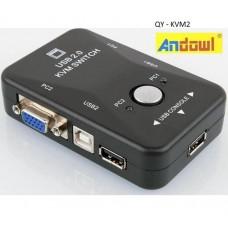 Επιλογέας VGA 2 PC και USB QY-KVM2 ANDOWL