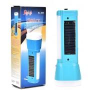 Επαναφορτιζόμενος φακός ηλιακός-ρεύματος με θύρα USB