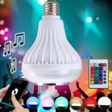 LED λάμπα RGB που αλλάζει χρώματα με ενσωματωμένο ηχείο Bluetooth και χειριστήριο 0335