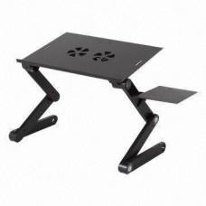 Πτυσσόμενο Τραπεζάκι για Laptop με Βάση για Mouse & 2 Ανεμιστήρες - Smart Foldable Τ8 Table