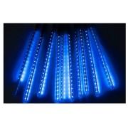 Χριστουγεννιάτικη επεκτεινόμενη LED βροχή μετεωριτών spiral 8 x 47cm μπλε