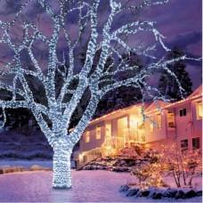 240 LED Λαμπάκια IP 44 εξωτερικού χώρου με 8 προγράμματα φωτισμού, λευκό ψυχρό