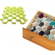 Διαχωριστικά συρταριού σε σχήμα κυψέλης, πράσινα