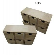Μοντέρνα, ξύλινη μπιζουτιέρα συρταριέρα με 6 συρτάρια 1123