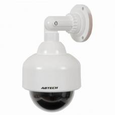 Μεγάλη στρογγυλή ψεύτικη κάμερα ασφαλείας με LED κόκκινη λυχνία - Flashing LED Security Camera