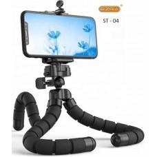 Ευλύγιστο τρίποδο κινητού με τηλεχειριζόμενο κλείστρο Bluetooth ST-04 EZRA