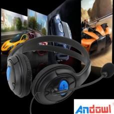 Ακουστικά κεφαλής με μικρόφωνο Gaming On Ear PS4, X ONE, PC, ANDOWL 0555