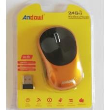 Ασύρματο εργονομικό ποντίκι 2,4 Ghz  χρυσό AN-185 ANDOWL
