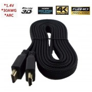 High Speed HDMI 1.4 3D καλώδιο με Ethernet - 2m Flat Heavy Duty - 1080p Full HD