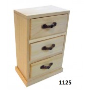 Ξύλινη μπιζουτιέρα συρταριέρα με 3 συρτάρια 1125