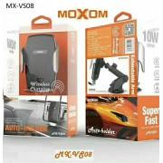 Βάση κινητού και ασύρματος γρήγορος φορτιστή αυτοκινήτου 2σε1 10W MX-VS08 MOXOM