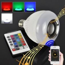 LED λάμπα RGB που αλλάζει χρώματα με ενσωματωμένο ηχείο Bluetooth και χειριστήριο 8704