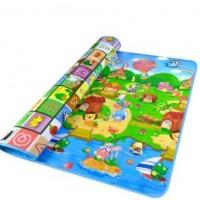 Μεγάλο παιδικό μαλακό ισοθερμικό χαλί δραστηριοτήτων διπλής όψης Playmat 1.80 x 1.50 cm