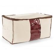Υφασμάτινη θήκη για ρούχα, κουβέρτες και παπλώματα 45 x 30 x 20 cm