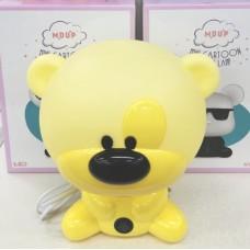 Λάμπα νυκτός αρκουδάκι κίτρινο LED MD28006