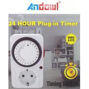 Χρονοδιακόπτης πρίζα 24 ωρών Q-A113 ANDOWL