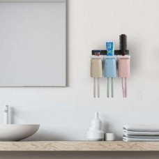 Αυτοκόλλητη θήκη τοίχου για οδοντόβουρτσες